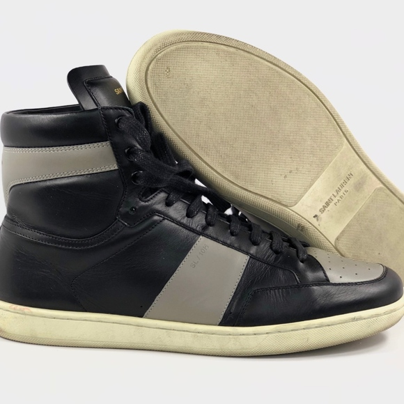 ea30db31 Yves Saint Laurent YSL SL/10 H Leather High Top